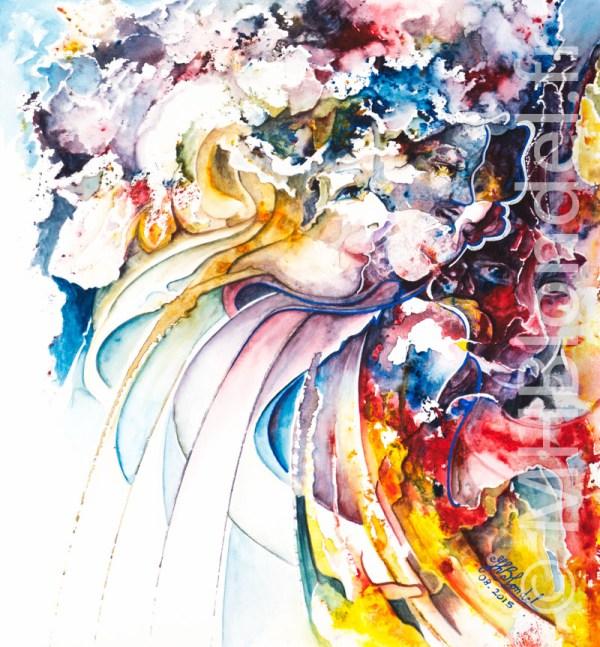 Bouquet d'âmes – Aquarelle sur papier – 30 X 30 cm – 100€