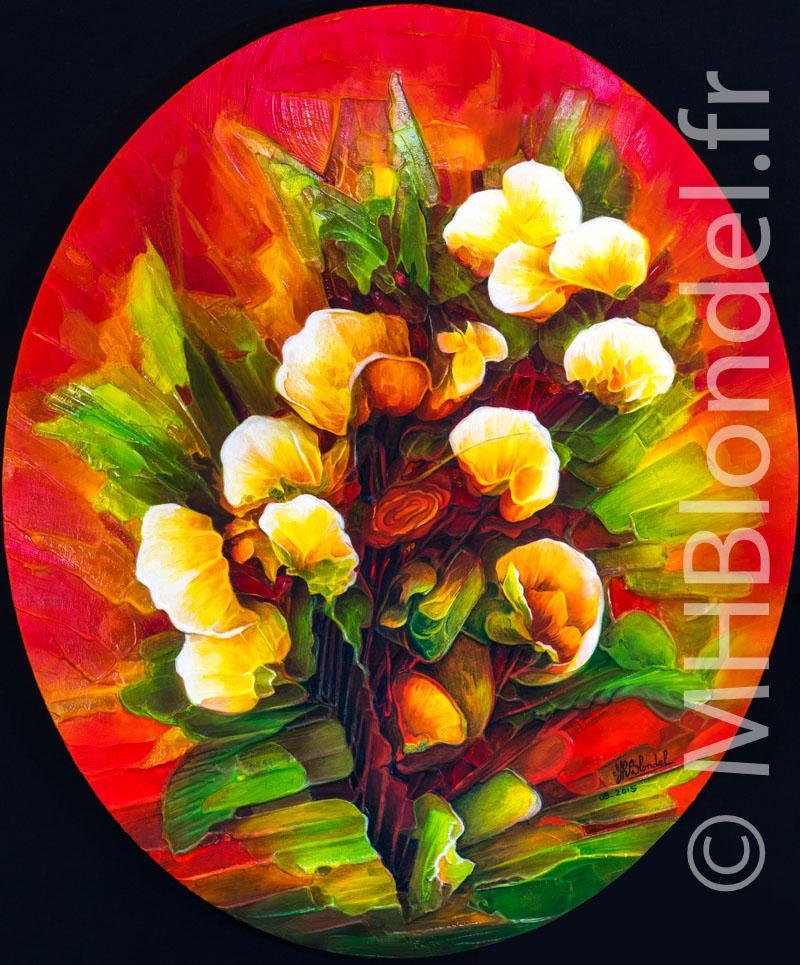 Bouquet – Huile sur toile – 60 X 50 cm – 350€