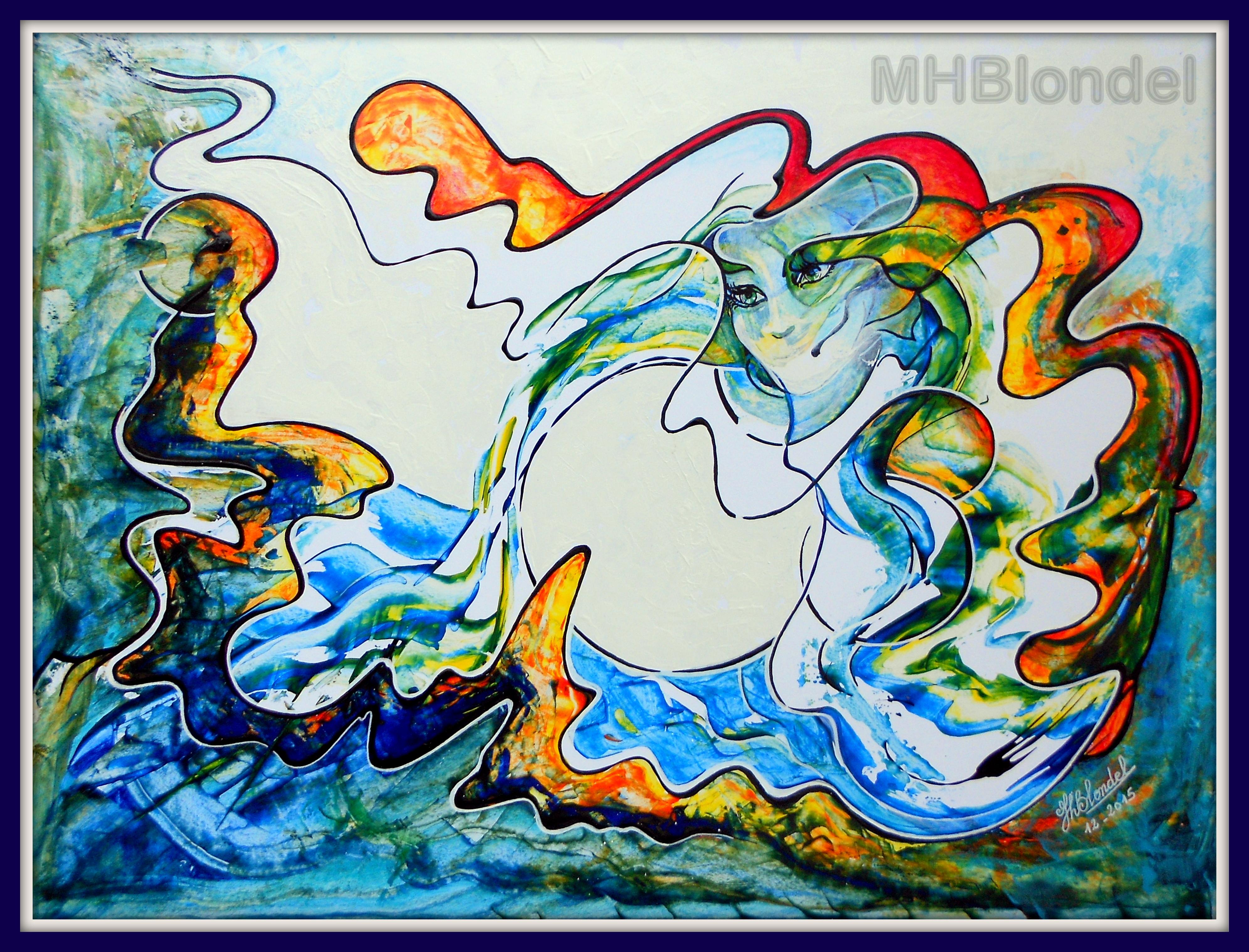Mère Nature – Acrylique sur carton plume – 46 X 63 cm – 280€