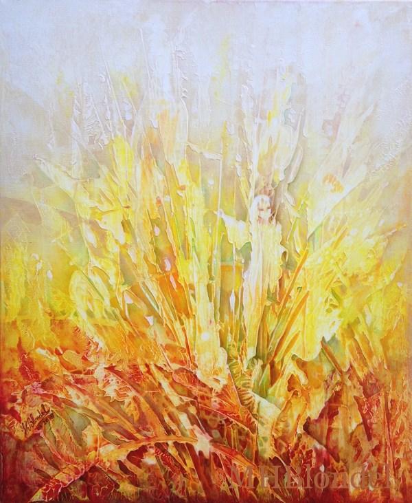 Petite fée des champs – Acrylique sur toile – 46 X 38 cm – 180€