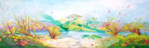 Dream Land 4 – Acrylique sur toile – 40 X 120 cm – 550€