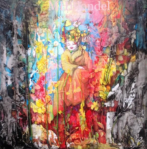Le p'tit roi du bosquet – Acrylique sur toile – 40 X 40 cm – 350€