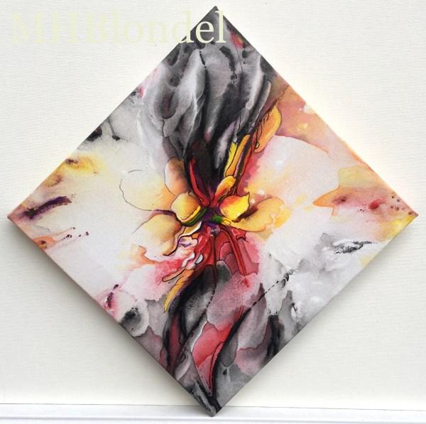 P'tit carré de Noël 10 – Acrylique sur toile – 20 X 20 cm – 50€