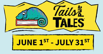 Summer Reading 2021 - Tails and Tales - June 1st thru July 31st.