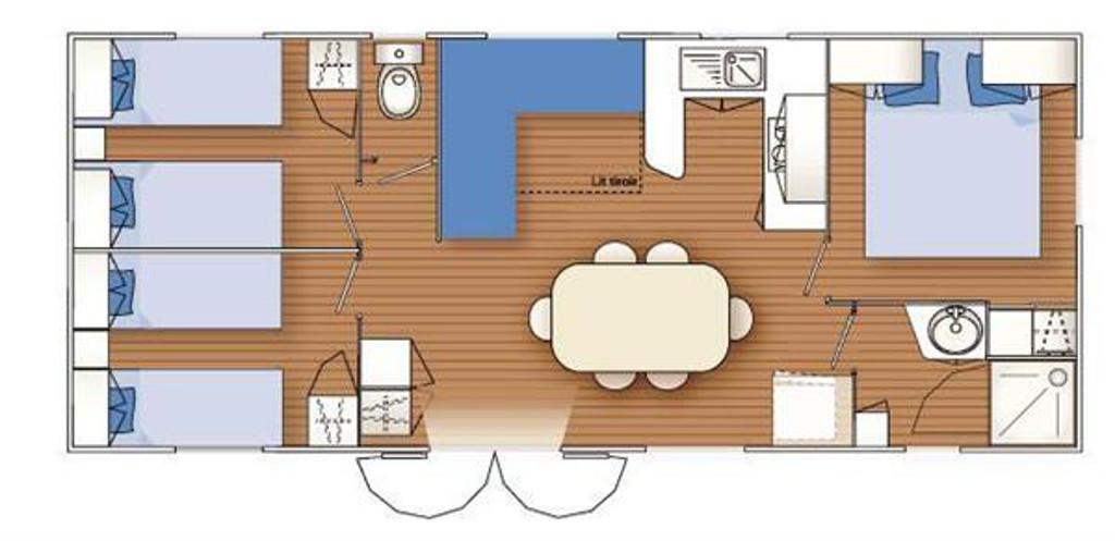 Louisiane Flores 3 3 Chambres 36m MHP Loisirs