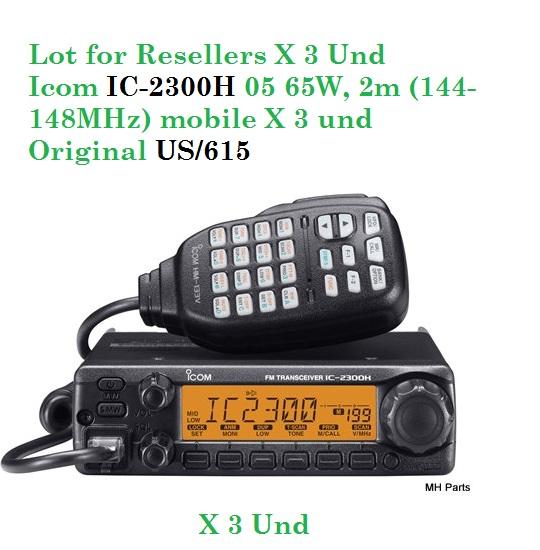 Lot Icom IC-2300H 05 65W, 2m (144-148MHz) mobile X 3 und  US/615