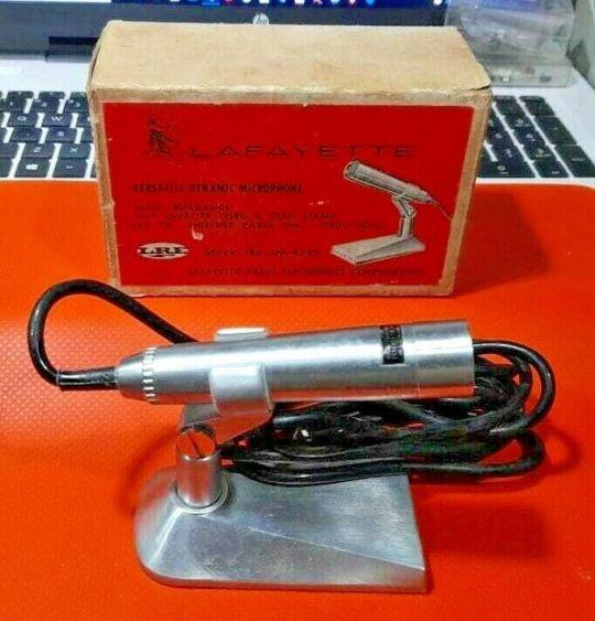 Lafayette Vintage Dynamic Microphone Part 99-4592 250 OHM/50OHM NOS