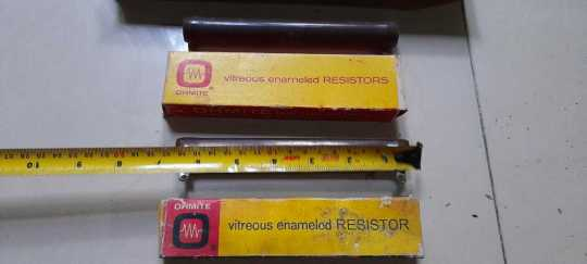 LOT#3 VINTAGE OHMITE and OTHER BRANDS NON INDUCTIVE RESISTOR HAM RADIO 3