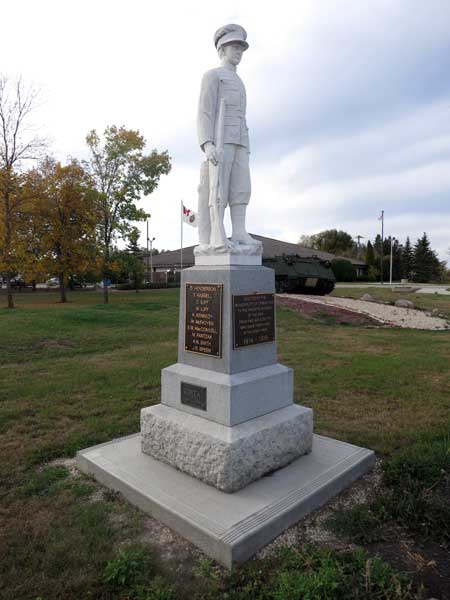Springfield, Manitoba war memorial, courtesy of the Manitoba Historical Society