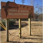 James D Martin Wildlife Park Sign