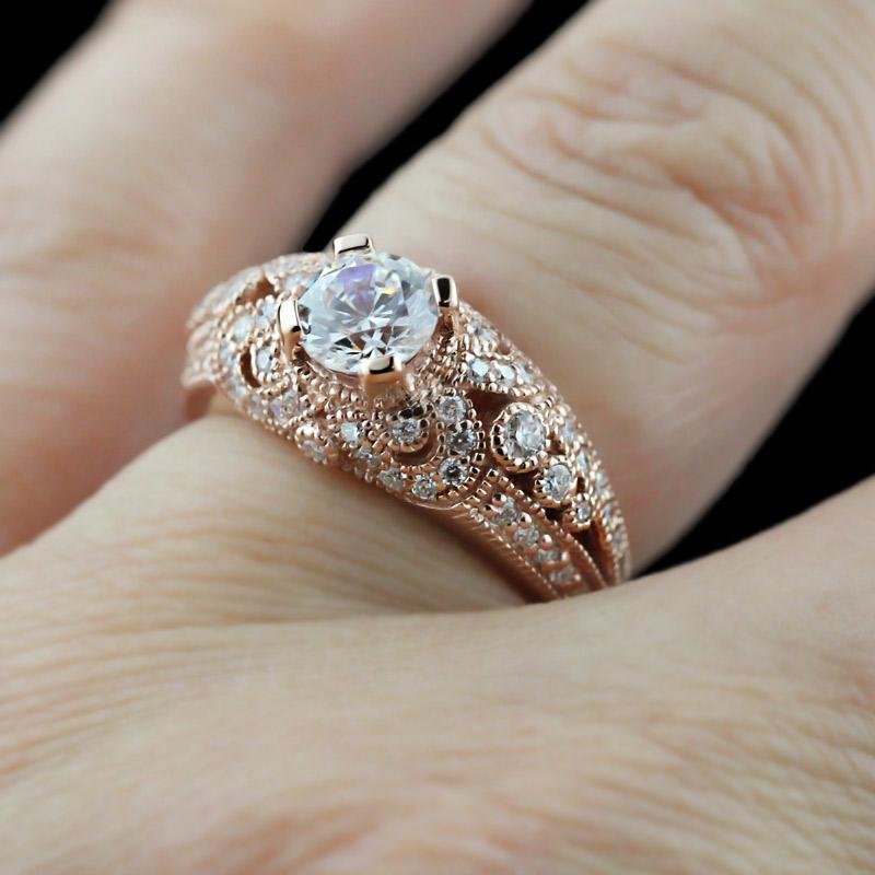 Rose Gold Rings Antique Rose Gold Rings For Women