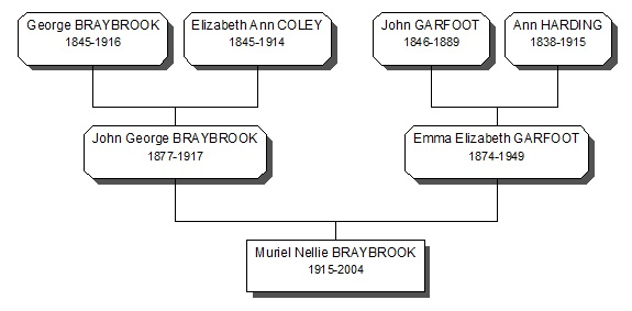 Braybook Family History 3 generation tree