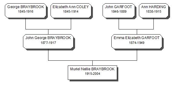 Braybook Family History 3 generation tree