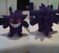 Gengar made by Devon Broderick. Love him! It is the first Gengar made from my pattern that I see! I'm so glad!