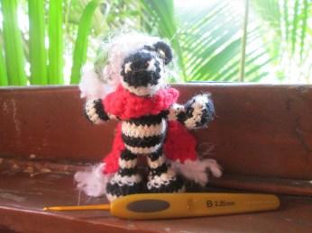 Zebra made by Hermina. Love the scarf!!