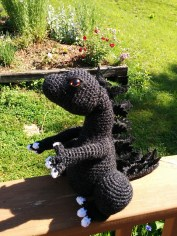 Godzilla, inspired on my Charizard pattern, made by Rhiannon.