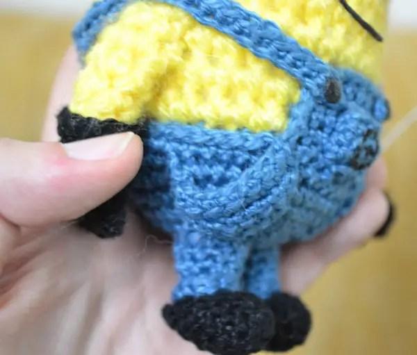 Crochet doll in Minion costume - Amigurumi Today | 511x600