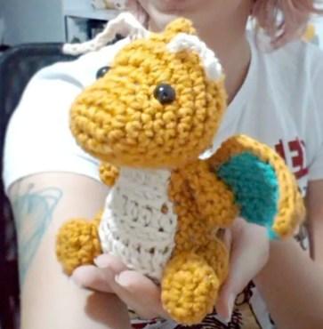 dragonite amigurumi - crochet plush dragon pokemon plushie ... | 370x363