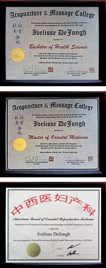 Miami-Acupuncture-diplomas