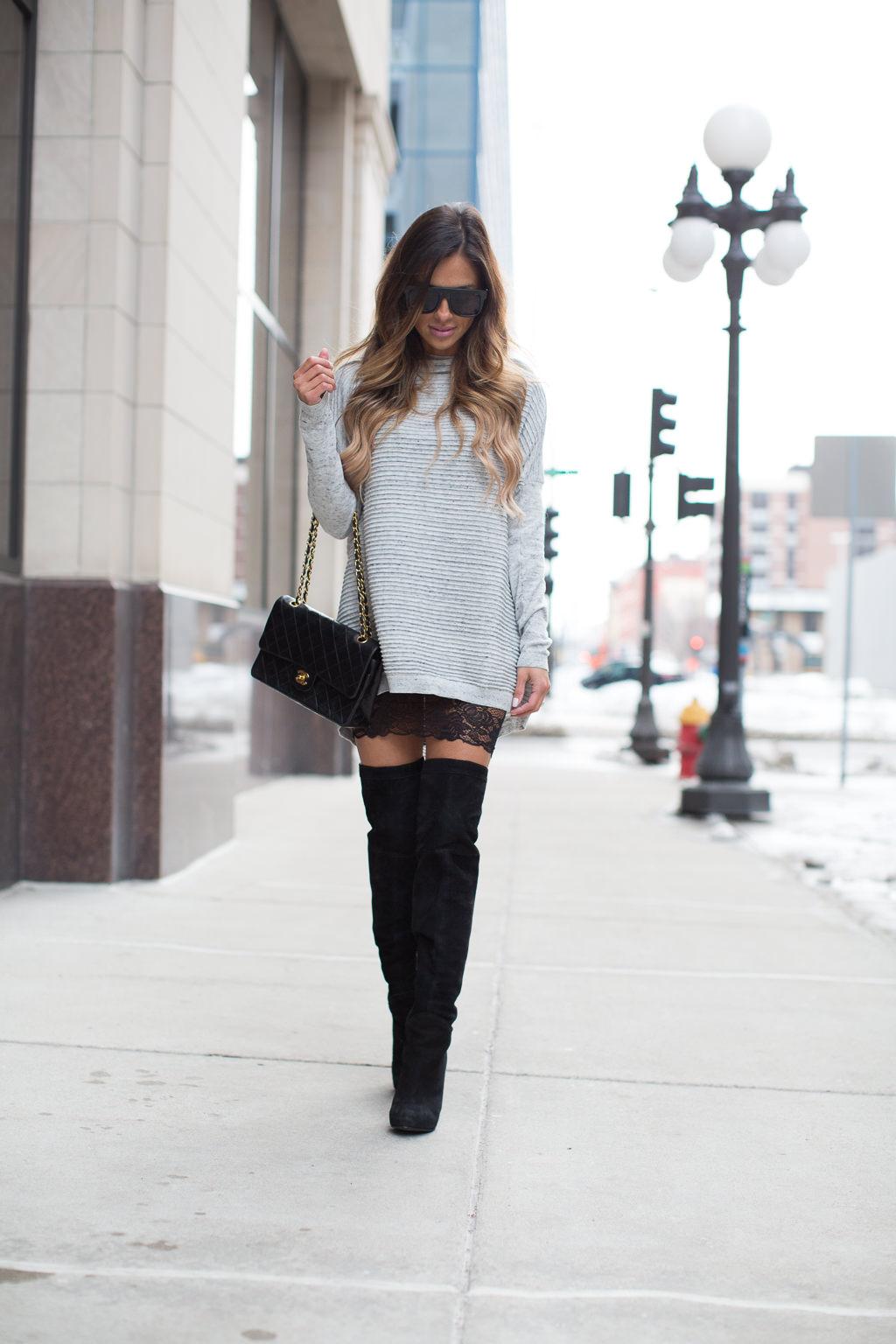 How To Wear A Sweater Dress Mia Mia Mine
