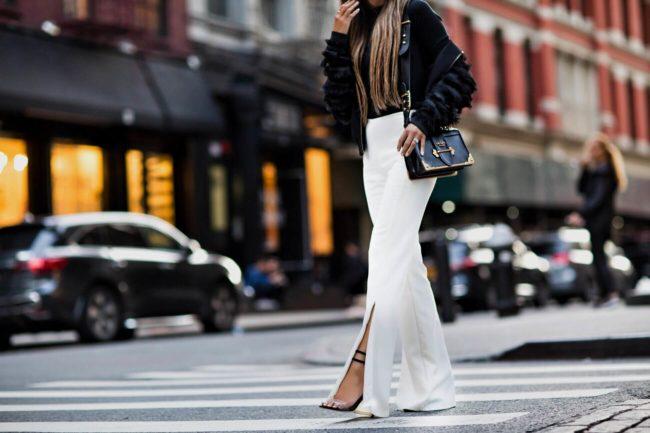 fashion blogger mia mia mine wearing a prada cahier bag