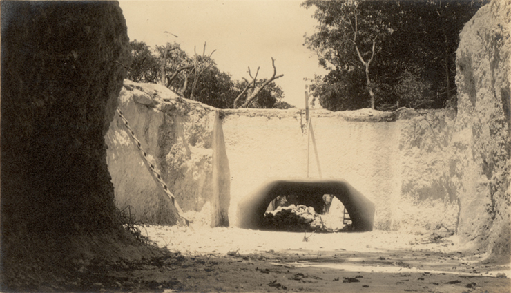 Historical picture of the moat.