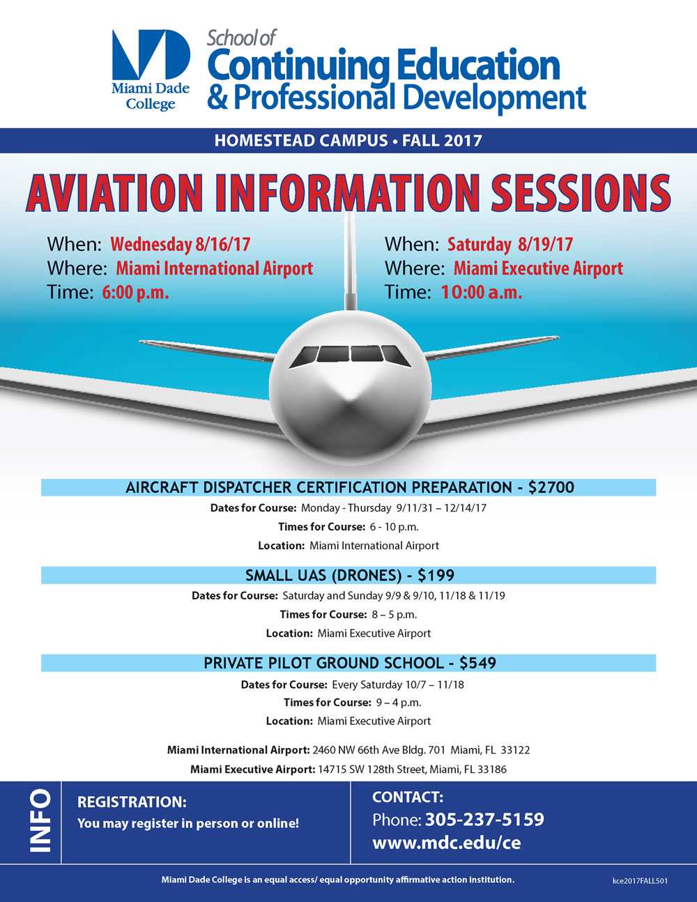 MDC Aviation Information Sessions