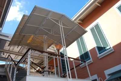 Escalator Canopies & Walkway Covers - Miami Awning