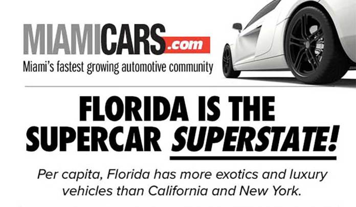 Florida is the supercar superstate!