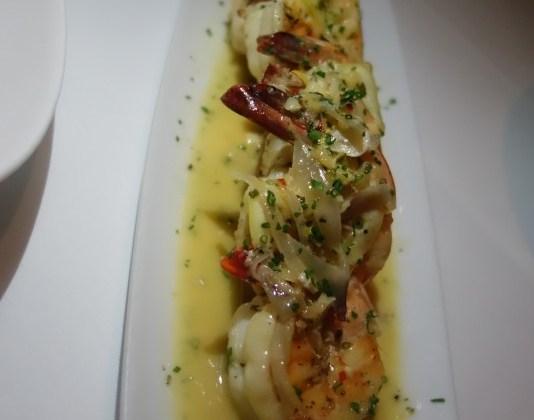 Red steakhouse shrimp scampi