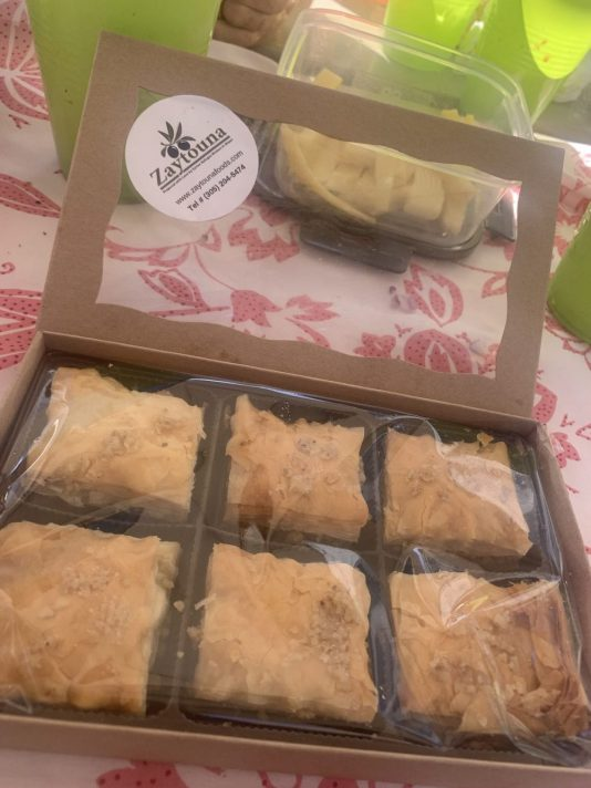 baklava by Syrian women refugees living in South Florida