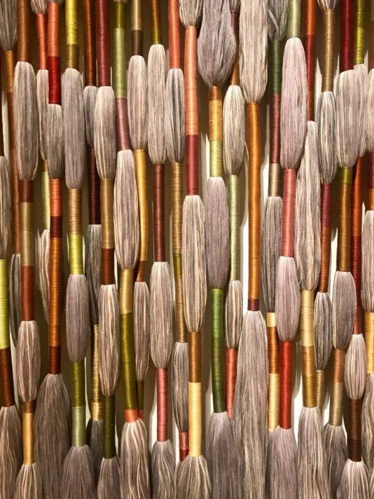 fiber sculpture by Sheila Hicks,Sheila Hicks Bass