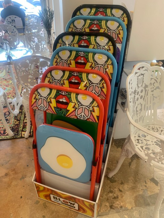 Seletti folding chairs at The Bazaar Project, shops in coconut grove, MiamiCurated