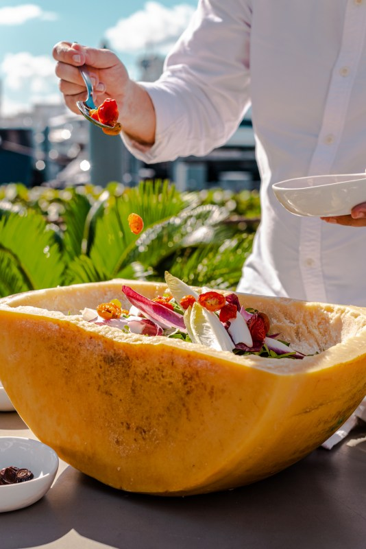 arugula salad, waterfront dining in miami, waterfront restaurants in miami, miamicurated