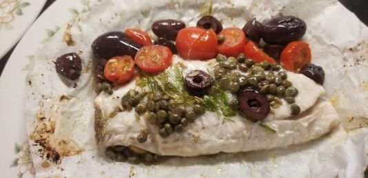 fish in parchment paper, MiamiCurated, mediterranean style fish