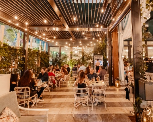 outdoor dining in Miami, Miamicurated