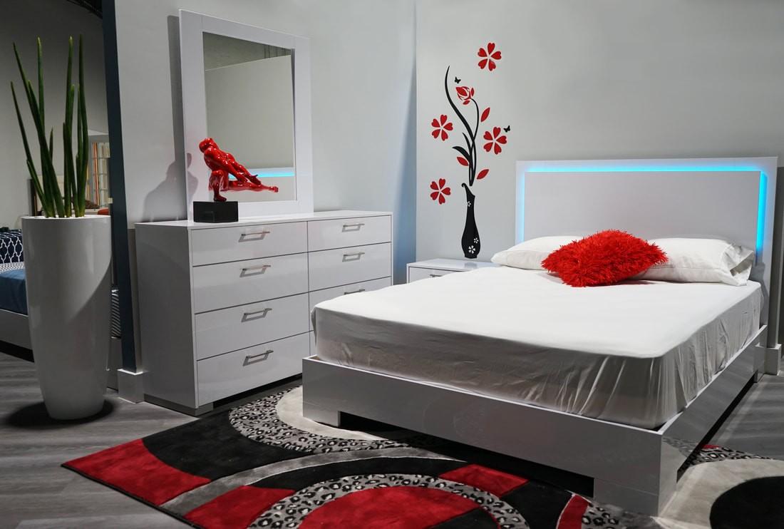 led lights bedroom set miami furniture