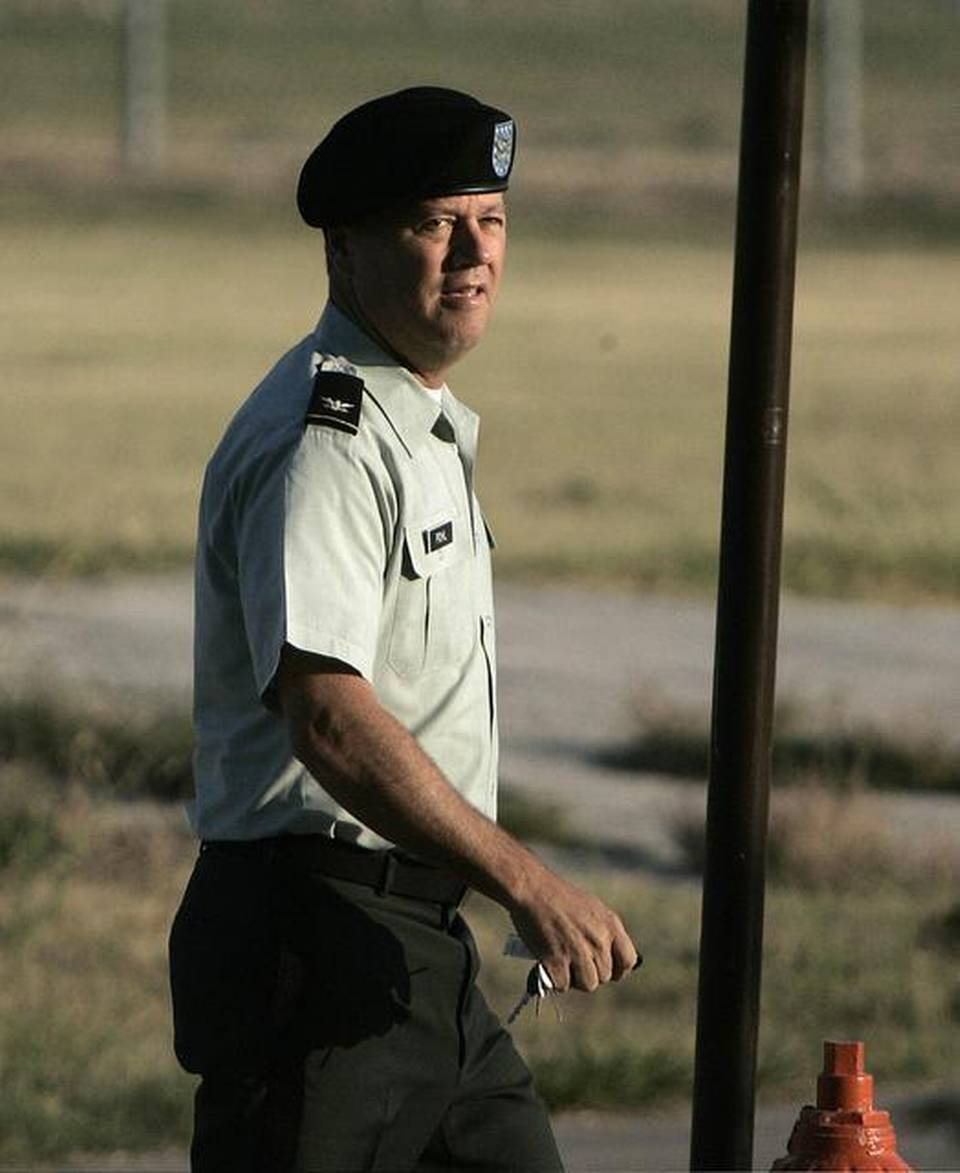 U.S. Army military judge Col. James L. Pohl, shown in this July 7, 2005 file photo at Fort Hood, Texas, is the chief of the Guantánamo military commissions judiciary.