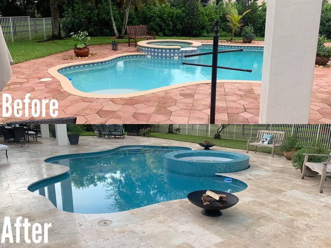 miami pool decks swimming pool
