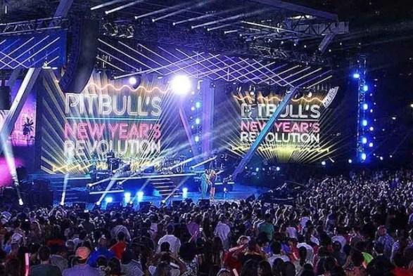 Pitbull's New Year Revolution at Bayfront Park Miami
