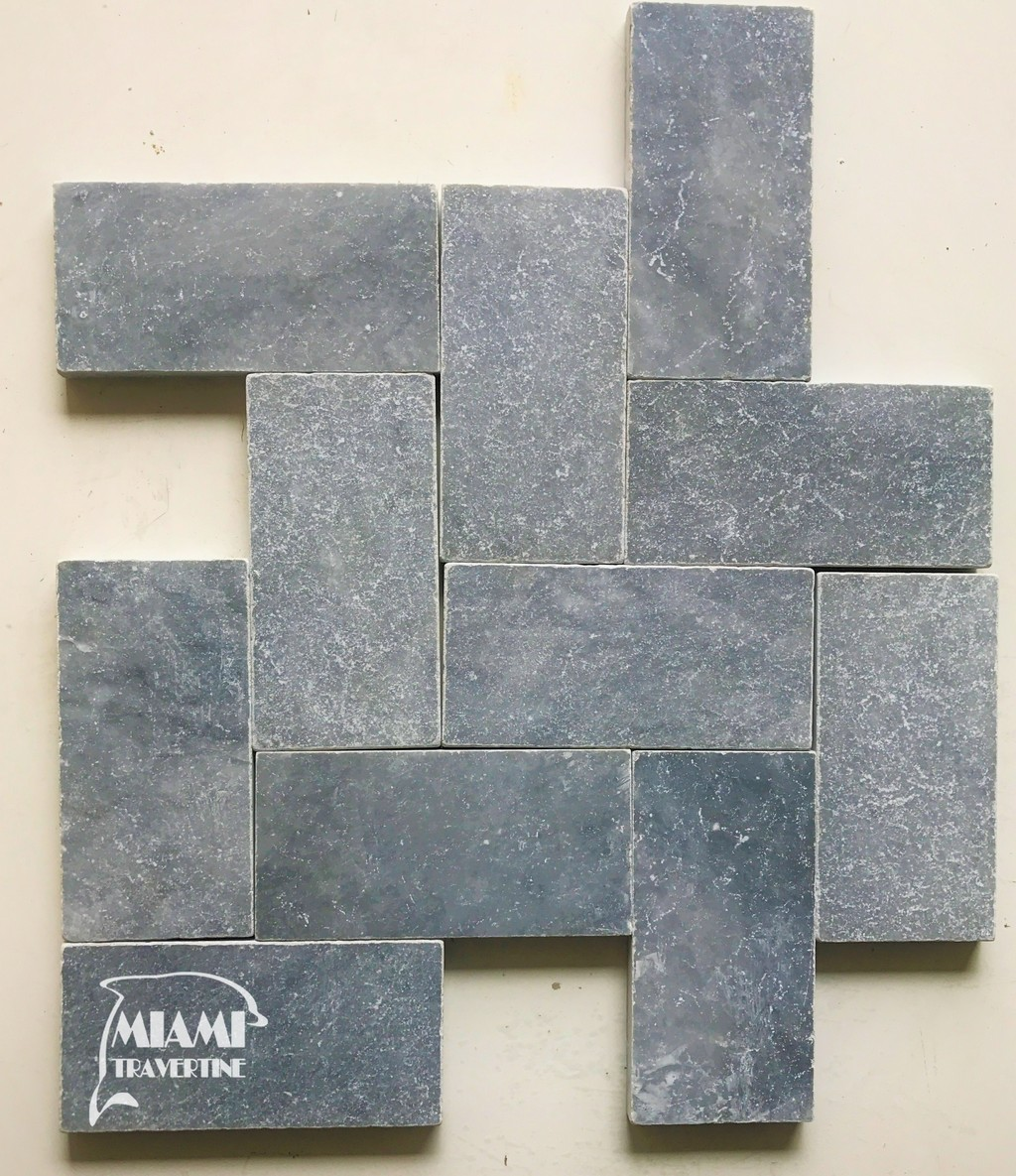 blue sky marble paver 6x12 miami