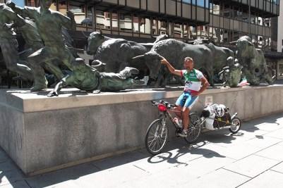 4 Spagna 2012_Monumento al Encierro, Pamplona