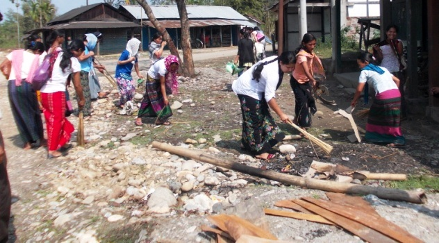 Cleanliness Drive in Progress