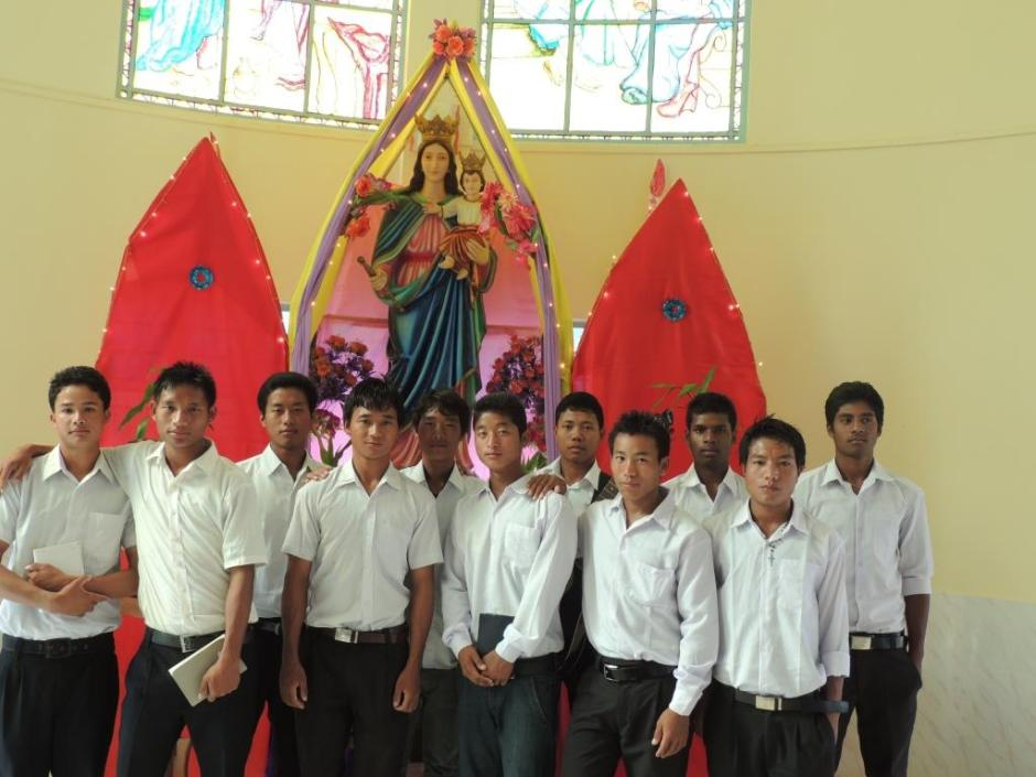 The Seminarians in Miao at the Feast of Assumption