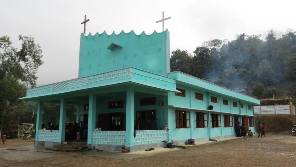 Holy Spirit Church Blessed at Tengman Village, Manmao