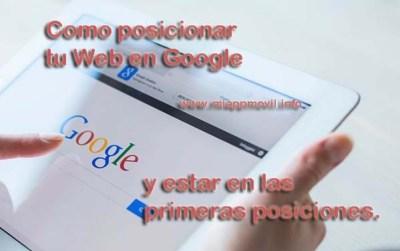 como posicionar tu web en google