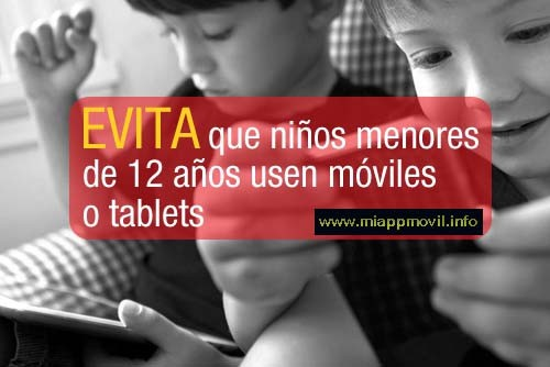 prohibir moviles menores
