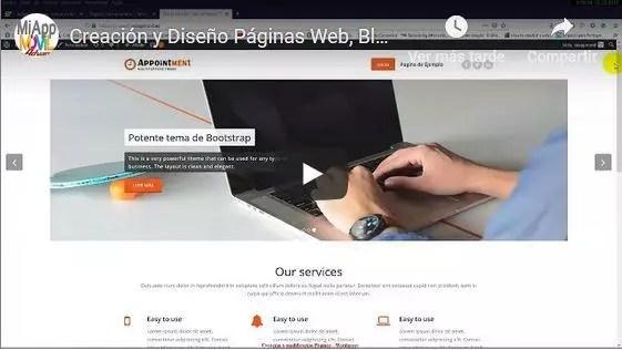 blog, youtube y paginas wordpress