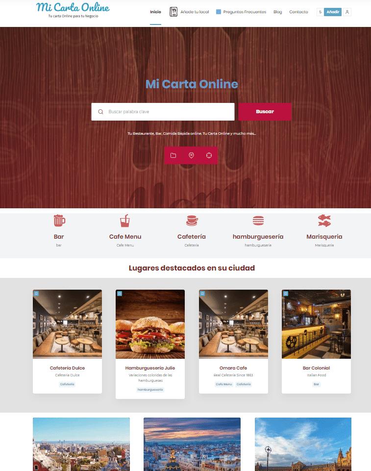 carta menu restaurante online qr web
