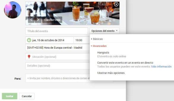 Eventos en Google+